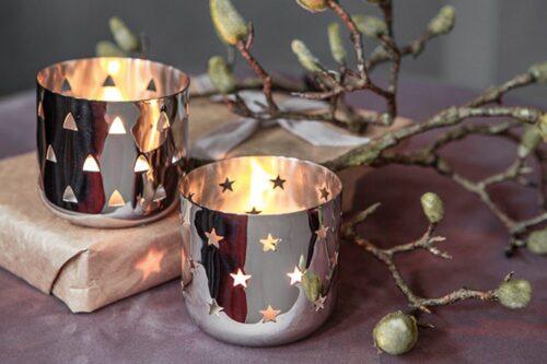 Fink Teelichthalter LUCY (Set 2 Stück) mit ausgestanzten Sternen B88962600 UVP 29,90€ | 88962600 2