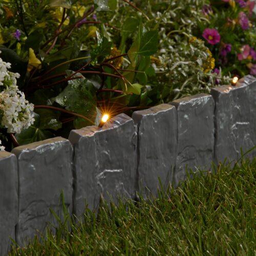 Rasenkante LED-Stone LxH:25x22,5cm mit fester LED Lichterkette B90348642 UVP 16,99€ | 90348642 2