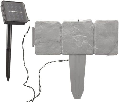 Rasenkante LED-Stone LxH:25x22,5cm mit fester LED Lichterkette B90348642 UVP 16,99€ | 90348642 6