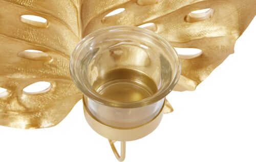 Leonique Wandkerzenhalter Leaf (2er-Set) Kerzen-Wandleuchter Kerzenhalter Kerzenleuchter Blattformmit Teelichthalter B90672058 UVP 49,99€   90672058 3