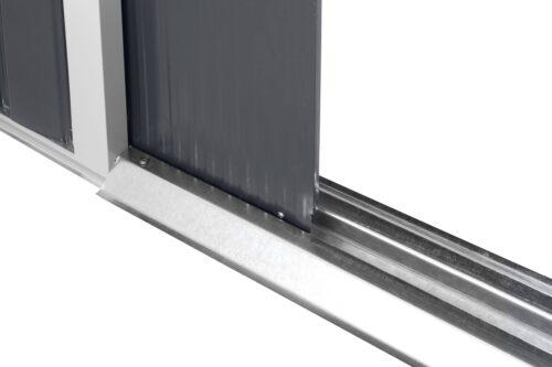 KONIFERA Set: Stahlgerätehaus Archer Plus D BxTxH: 267x255x212cm Bodenrahmen B93074360 UVP 419,99€ | 93074360 5