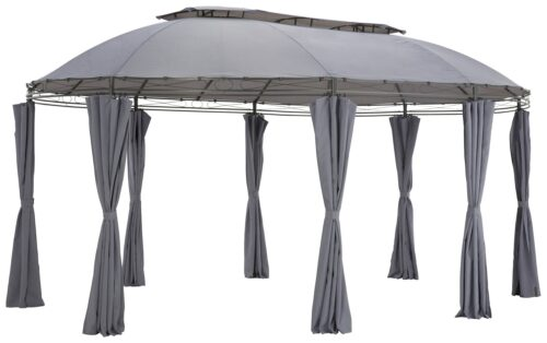 KONIFERA Pavillon Oval mit 8 Seitenteilen (Set) BxT:350x500cm B93603352 UVP 259,99€ | 93603352 1