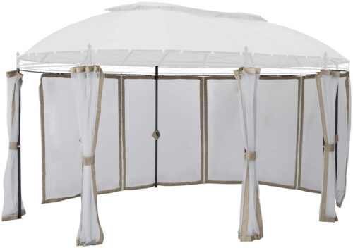 KONIFERA Pavillonseitenteile Oval mit 8 Seitenteilen Moskitonetz B93899324 UVP 79,99€ | 93899324 1