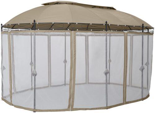 KONIFERA Pavillonseitenteile Oval mit 8 Seitenteilen Moskitonetz B93899324 UVP 79,99€ | 93899324 3