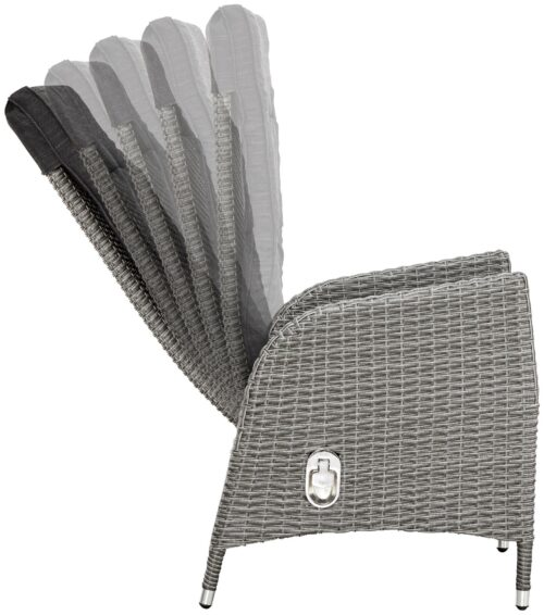KONIFERA Gartenmöbelstuhl Brisbane 1 Stuhl/Sessel Rückenlehne verstellbar Aluminium Polyrattan B96198603S | 96198603 3