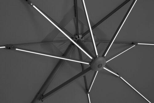 garten gut Ampelschirm Roma de luxe LxB:400x300cm Solarbetriebener LED Beleuchtung B96843855 UVP 499,99€ | 96843855 5