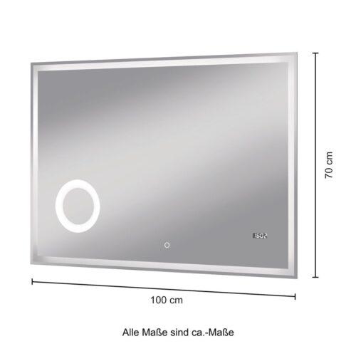 welltime Badspiegel Flex mit Beleuchtung Digitaluhr Kosmetikspiegel B96974517 ehemalige UVP 259,99€ | 96974517 8