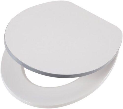 WC-Sitz Weiß-grau MDF Toilettensitz Absenkautomatik B97311725 UVP 59,99€ | 97311725 1 1