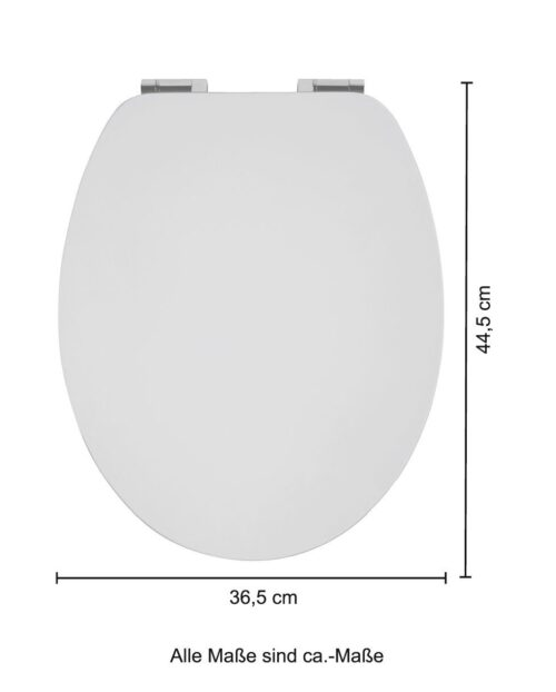 WC-Sitz Weiß-grau MDF Toilettensitz Absenkautomatik B97311725 UVP 59,99€ | 97311725 6
