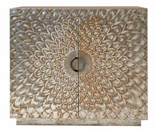 Kommode Dahlia antik silber/goldfarbige Kommode UVP 990,00€   Dahlia 2