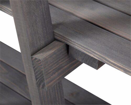 WELLTIME Badregal 3 Ablagen aus Massivholz B897103 ehemalig    UVP 49,99€ | Bad Badregal grau aus Massivholz mit 3 Ablagen UVP 4999 B897103 332443426176 3