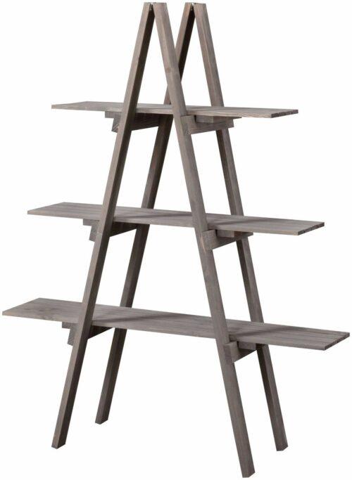 WELLTIME Badregal 3 Ablagen aus Massivholz B897103 ehemalig    UVP 49,99€ | Bad Badregal grau aus Massivholz mit 3 Ablagen UVP 4999 B897103 332443426176