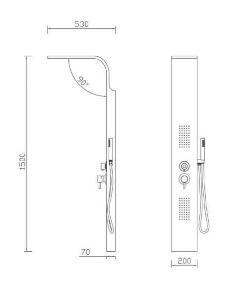 Bad Dusche Duschsäule Verona, Breite 20 cm B810714 UVP 259,99€   Bad Dusche Duschsule Verona Breite 20 cm B810714 UVP 25999 333135976158 5