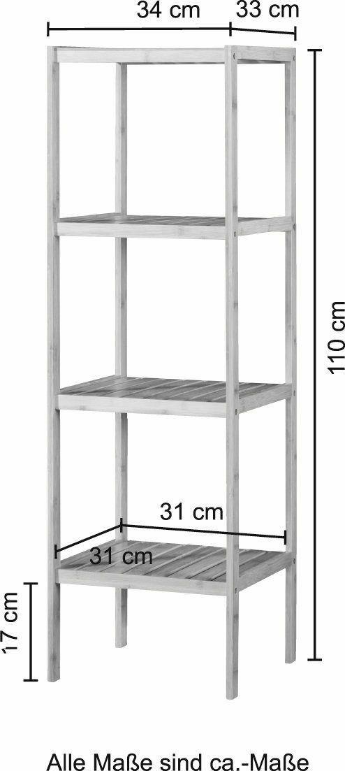 Bad KONIFERA Badregal Bambus 34cm breit 4 Ablagen B40395915 UVP 69,99€ | Bad KONIFERA Badregal Bambus 34 cm breit 4 Ablagen B40395915 UVP 6999 333273611766 4