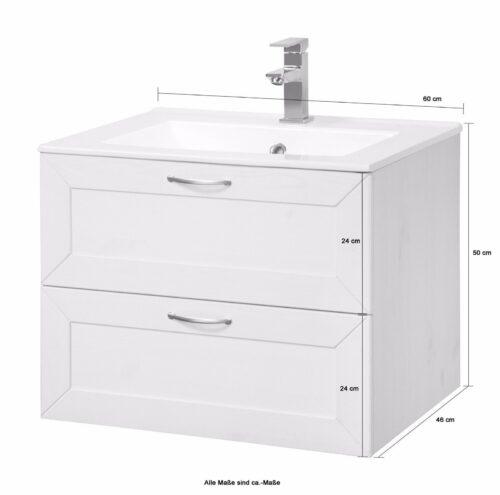 Bad Konifera Waschtisch Modern weiß B 60cm,(2-tlg.) B367527 ehemalig UVP 299,99€ | Bad Konifera Waschtisch Modern wei Breite 60 cm2 tlgUVP 29999 B367527 332378191489 4