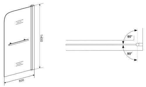 Badewannenaufsatz Badalona1-tlg. 80x140cm B33822433 UVP 179,99€ | Badewannenaufsatz Badalona 1 tlg 80x140cm B33822433 UVP 17999 333464498720 4