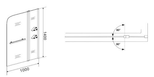 Badewannenaufsatz Girona 2-tlg.100x140cm B18807527/17112951 UVP 149,99€ | Badewannenaufsatz Girona 2 tlg 100x140cm B18807527 UVP 19999 333206719749 5