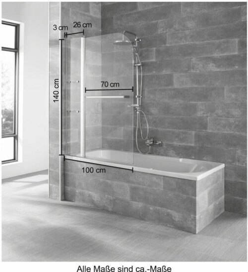 Badewannenaufsatz Girona 2-tlg.100x140cm B18807527/17112951 UVP 149,99€ | Badewannenaufsatz Girona 2 tlg 100x140cm B18807527 UVP 19999 333206719749 6