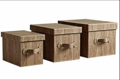Box Aufbewahrungsboxen 3er Set braun NEU B99188 UVP 69,99 € | Box Aufbewahrungsboxen 3er Set braun NEU UVP 6999 1B99188 333568230949