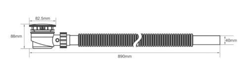 Duschablauf Ablaufgarnitur für Dusch-tasse/-wanne 82,5mm B820049 ehemaligUVP 29,99€ | Duschablauf Ablaufgarnitur fr Dusch tasse wanne 825 mm UVP 1999 B820049 232830574227 3
