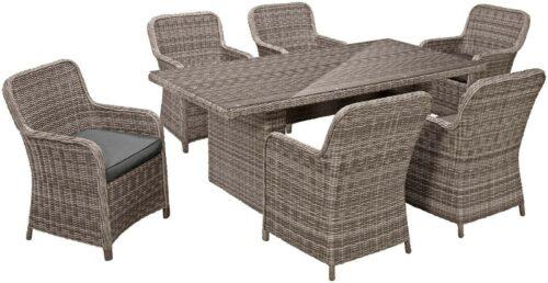Gartenmöbelset Korsika 13-tlg 6 Sessel Tisch Polyrattan B366364 UVP 799,99€ | Gartenmbelset Korsika 13 tlg 6 Sessel Tisch PolyrattanB366364 UVP 79999 333564962078