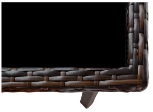 Gartentisch Victoria Tisch Glastisch Braun 90x90cm B197880 | Gartentisch Victoria Tisch Glastisch Braun 90x90 B197880 333327905606 2