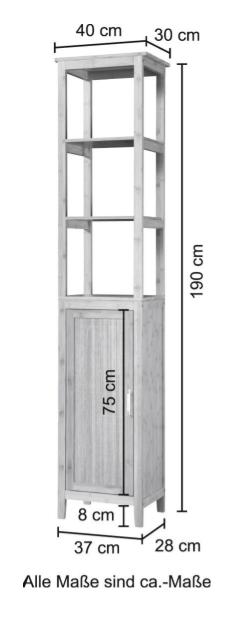 Hochschrank Bambus New Badschrank 40cm breit B28641520 UVP 179,99€ | Hochschrank Bambus New Badschrank 40 cm breit B28641520 UVP 17999 333295684332 4