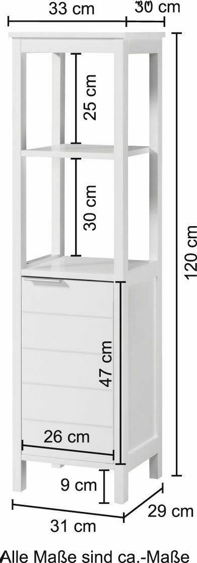 Hochschrank Monaco/Luzern33 cm Breit B49361939 UVP 179,99€ | Hochschrank MonacoLuzern 33 cm Breit B49361939 UVP 17999 233235200654 5