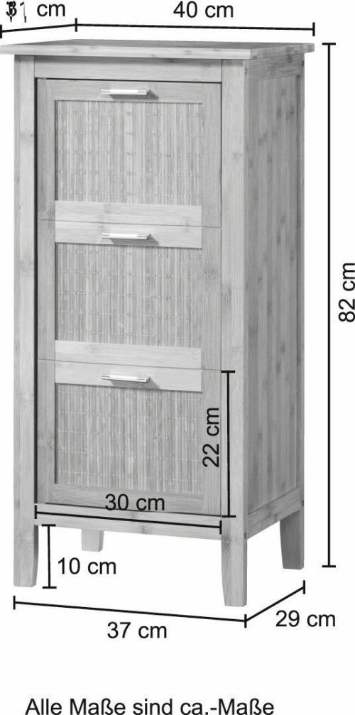 KONIFERA Badunterschrank Bambus New Badschrank 40cm breit B43415110 UVP 99,99€ | KONIFERA Badunterschrank Bambus New Badschrank 40cm breit B43415110 UVP 9999 233343121219 4