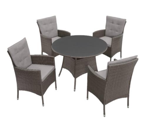 KONIFERA Gartenmöbelset Mailand Tisch 4 Stühle B16042153 ehemalige UVP 349,99€ | KONIFERA Gartenmbelset Mailand 13 tlg 4 Sessel Tisch 100 cm B16042153 UVP 299 333311209521 2