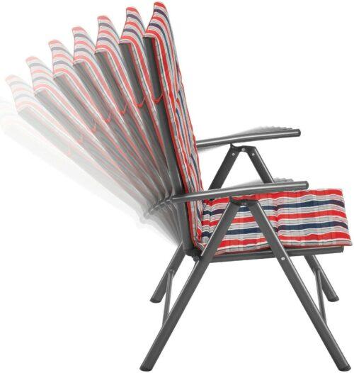 Gartenstühle 4er Set Alu/Textil Oslo verstellbar Wendeauflage B762525S | KONIFERA Gartenmbelset Oslo 4 Hochlehner Tisch AluTextil B394402 UVP 27999 333396016850 4