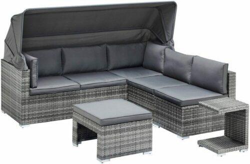 KONIFERA Loungebett Atlanta Polyrattan grau inkl.Auflagen B44325844 UVP 799,99€ | KONIFERA Loungebett AtlantaPolyrattangrauinklAuflagen B25607929 UVP 69900 233025465716 2