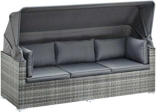 KONIFERA Loungebett Atlanta Polyrattan grau inkl.Auflagen B44325844 UVP 799,99€ | KONIFERA Loungebett AtlantaPolyrattangrauinklAuflagen B25607929 UVP 69900 233025465716 6
