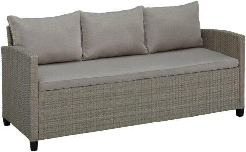 KONIFERA Loungeset Amsterdam 3er Sofa 2 Sessel 2 Hocker Tisch 144,5x74cm Auflagen B92602220 UVP 699,99€ | KONIFERA Loungeset Amsterdam Polyrattan B92602220 UVP 59999 333333600569 4