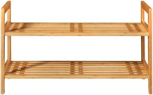WELLTIME Schuhregal Bambus 70cm breit 2 Ablagen Stapelregal B76126364 ehemalige UVP 59,99€ | KONIFERA Schuhregal Bambus B 70 cm Stapelregal B59229848 UVP 5999 233362411158 2