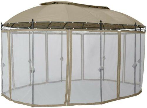 KONIFERA Seitenteile Pavillon Oval, beige, 8Stk,Moskitonetz B95414133 UVP 79,99€   KONIFERA Seitenteile Pavillon Oval beige 8StkMoskitonetz B95414133 UVP 7999 333461156050 2