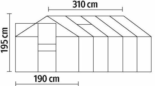 KONIFERA Gewächshaus Florenz BxT: 190x310cm grün B33022418 UVP 599,99€   KONIFERA Set Gewchshaus Florenz BxT 190x310 cm grn B33022418 UVP 49999 333469758009 8