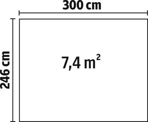 KONIFERA Stahlgerätehaus , BxT: 246x300 cm B224937 UVP 499,99 € | KONIFERA Stahlgertehaus BxT 246x300 cm B224937 UVP 49999 233154665562 4