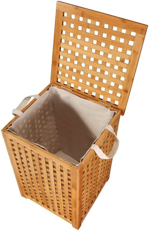 WELLTIME Wäschekorb Bambus Wäschebox 40cm breit B16244128 UVP 79,99€ | KONIFERA Wschekorb Bambus Wschebox 40 cm breit B23156400 UVP 6999 333199921337 2