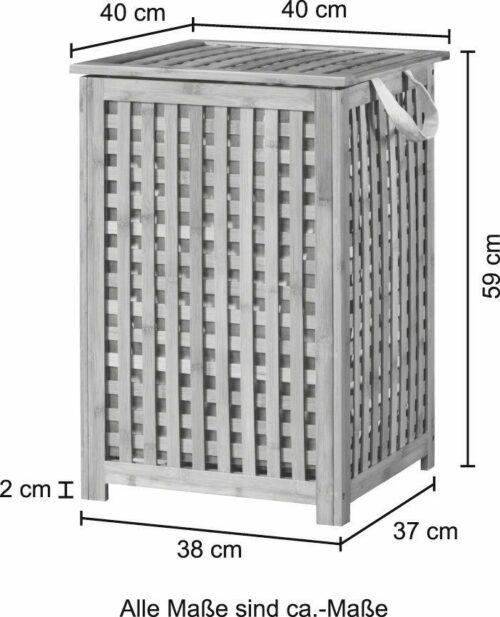 WELLTIME Wäschekorb Bambus Wäschebox 40cm breit B16244128 UVP 79,99€ | KONIFERA Wschekorb Bambus Wschebox 40 cm breit B23156400 UVP 6999 333199921337 3