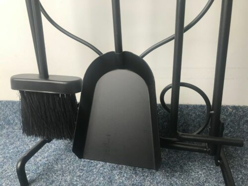 Kaminbesteck Ofen Eisen schwarz 3-tlg UVP 59,99€ B124954 NEU   Kaminbesteck Ofen Eisen schwarz 3 tlg UVP 5999 B124954 NEU 332594165079 3