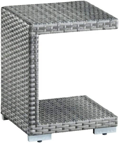 Konifera Atlanta Beistelltisch Tisch Polyrattan grau 44325844BS | Konifera Atlanta Beistelltisch Tisch Polyrattan grau 233592814910 2