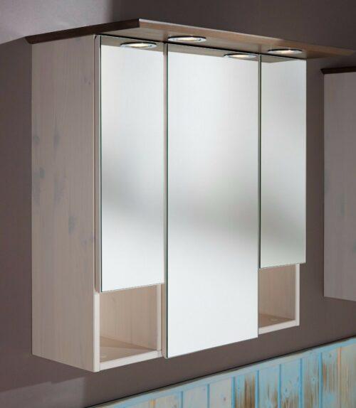 Konifera Spiegelschrank weiß/grau Bad Landhaus/Sund B299819S ehmalige UVP 149,99€   Konifera Spiegelschrank weigrau Bad LandhausSund UVP 17999 B299819 332182351861 2