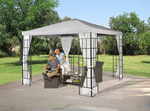 Seitenteile für Pavillon 3x3 grau Moskitonetz B343914 ehemalig UVP 49,99€ | Seitenteile fr Pavillon 3x3 grau UVP 4999 B343914 332327869505