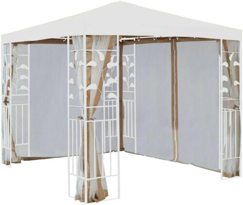 Seitenteile Moskitonetz Pavillon 3x3m Blätter sandfarben B785936 UVP 49,99€ | Seitenteile fr Pavillon Bltter sandfarben B785936 UVP 4999 333113547974