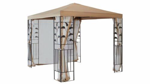 Seitenteile für Pavillon Modern Tulpe Blätter sandfarben B430824 ehemalig UVP 49,99€   Seitenteile fr Pavillon Modern Tulpe Bltter sandfarben UVP 4999 B430824 232347788189