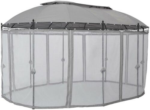 Seitenteile für Pavillon Oval grau mit Moskitonetz B60728313 UVP 79,99€ | Seitenteile fr Pavillon Oval grau mit Moskitonetz UVP 7999 B60728313 232830532578 2