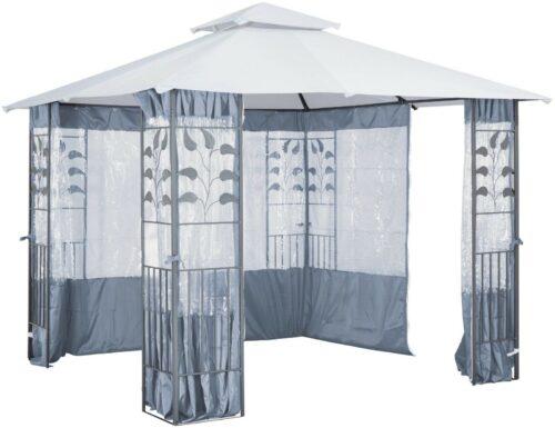 KONIFERA Seitenteile Pavillon mit Fenster für Pavillon Blätter grau B703590 ehemalige UVP 99,99€ | Seitenteile fr Pavillonmit Fenster fr Pavillon Bltter grau B703590 UVP9999 233550760291