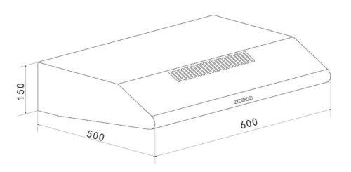 Unterbauhaube 60cm Breite Leistung bis zu 194 m³/h B443141 UVP 79,99€   Unterbauhaube in 60 cm Breite Leistung bis zu 194 mh B443141 UVP 7999 233199854846 4