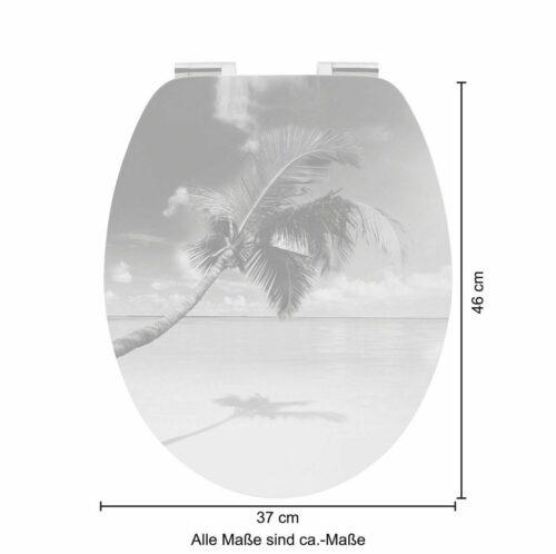 WC-Sitz Beach MDF Toilettensitz mit Absenkautomatik B79339962 UVP 49,99 € | WC Sitz Beach MDF Toilettensitz mit Absenkautomatik B79339962 UVP 4999 333380179683 6